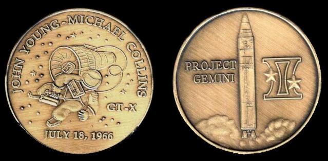 Les médailles commémoratives officielles de la NASA - Partie 2 / Programme Gemini Gemini17