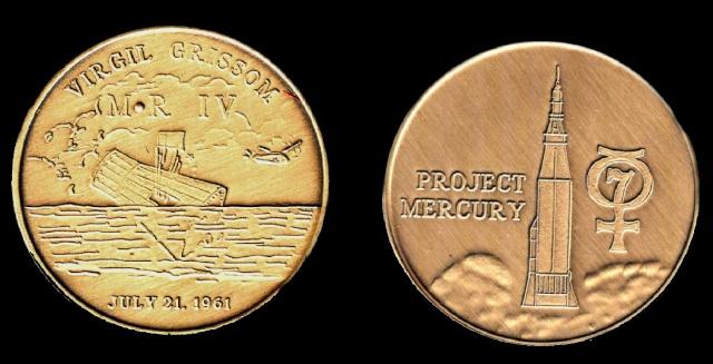 Les médailles commémoratives officielles de la NASA - Partie 1 / Programme Mercury Libert10