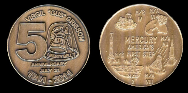 Les médailles commémoratives officielles de la NASA - Partie 1 / Programme Mercury Libert11