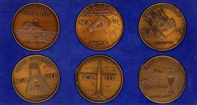 Les médailles commémoratives officielles de la NASA - Partie 1 / Programme Mercury Mercur10