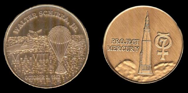 Les médailles commémoratives officielles de la NASA - Partie 1 / Programme Mercury Sigma_10