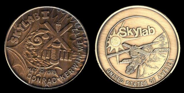 Les médailles commémoratives officielles de la NASA - Partie 4 / Programme Skylab et Apollo-Soyouz Skylab10