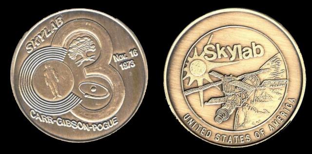 Les médailles commémoratives officielles de la NASA - Partie 4 / Programme Skylab et Apollo-Soyouz Skylab12