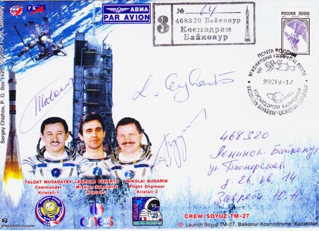 15ème anniversaire du vol de Leopold Eyharts Mission Soyouz TM-27 Soyouz19