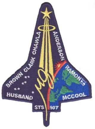 Logo et différents Patchs mission STS-107 Sts10711