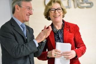 Le président du CNES Yannick d'Escatha annonce son départ  Voeux-10