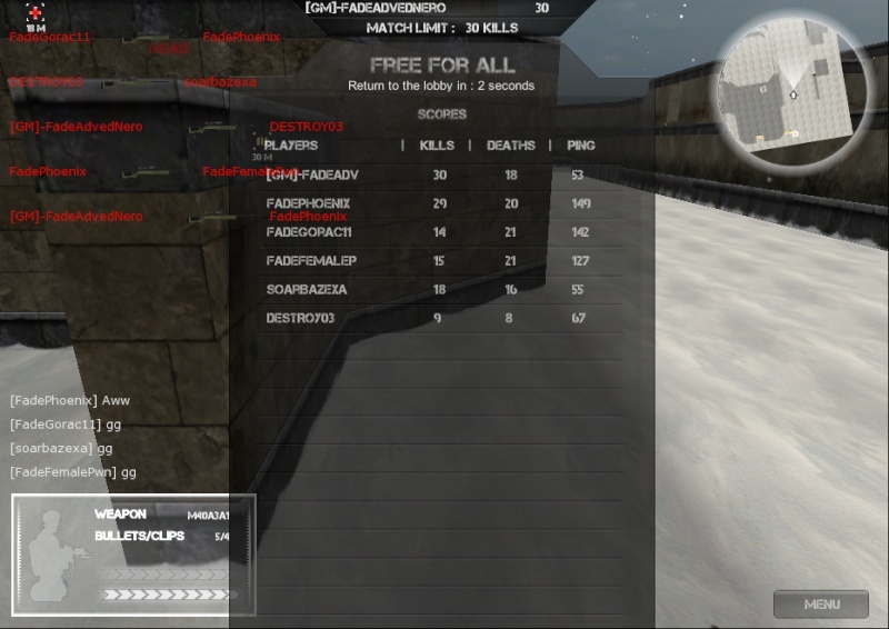 Good games with Fade! Fade_710