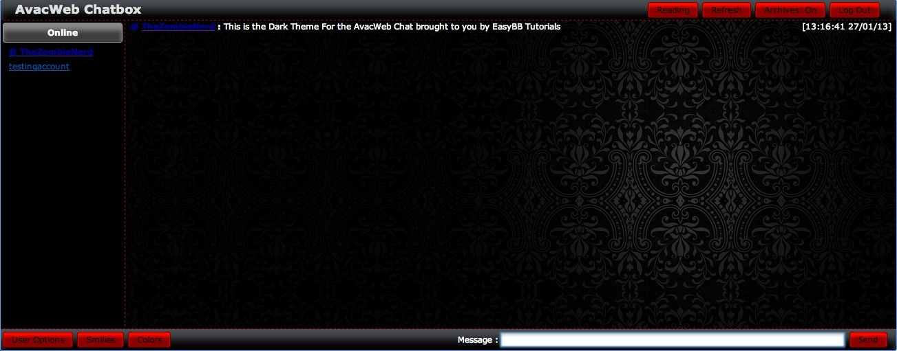AvacWeb Chat THEMES Screen18