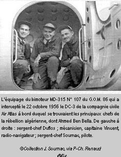 22 octobre 1956: L'interception du DC-3 de Ben Bella par l'aviation française Flaman11