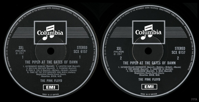 The Piper At The Gates Of Dawn Labels12