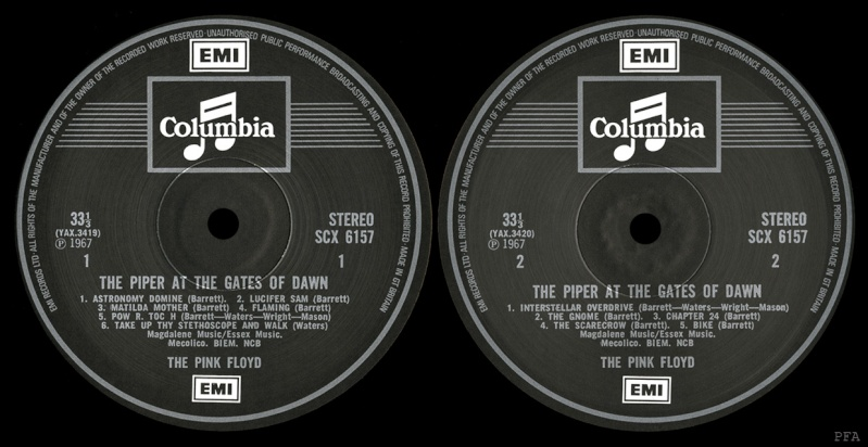 The Piper At The Gates Of Dawn Labels14