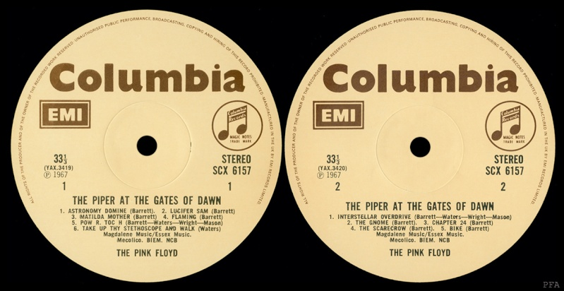 The Piper At The Gates Of Dawn Labels15
