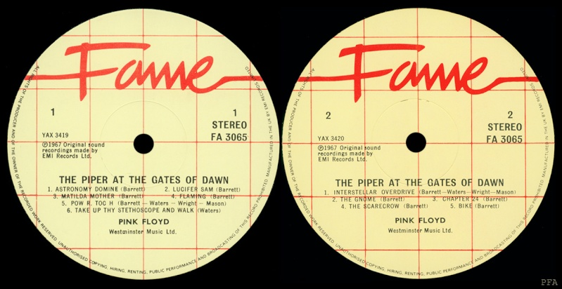The Piper At The Gates Of Dawn Labels16