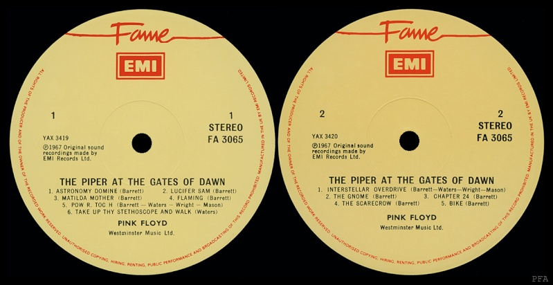 The Piper At The Gates Of Dawn Labels17