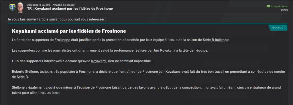 [FM 21 - Frosinone] Frénésie Japonaise - Page 3 Articl10