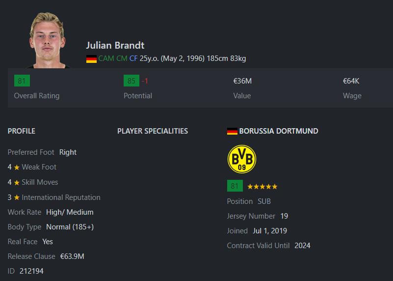 [Partie MF Fifa] Une nouvelle chance au BVB: Espoir ou Désespoir? Brandt10
