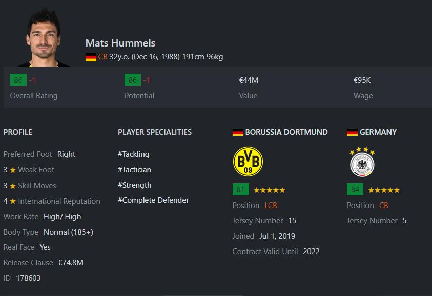 [Partie MF Fifa] Une nouvelle chance au BVB: Espoir ou Désespoir? Hummel10