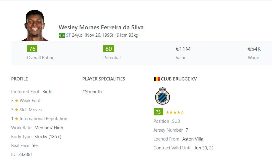 [Partie MF Fifa] Une nouvelle chance au BVB: Espoir ou Désespoir? Wesley10