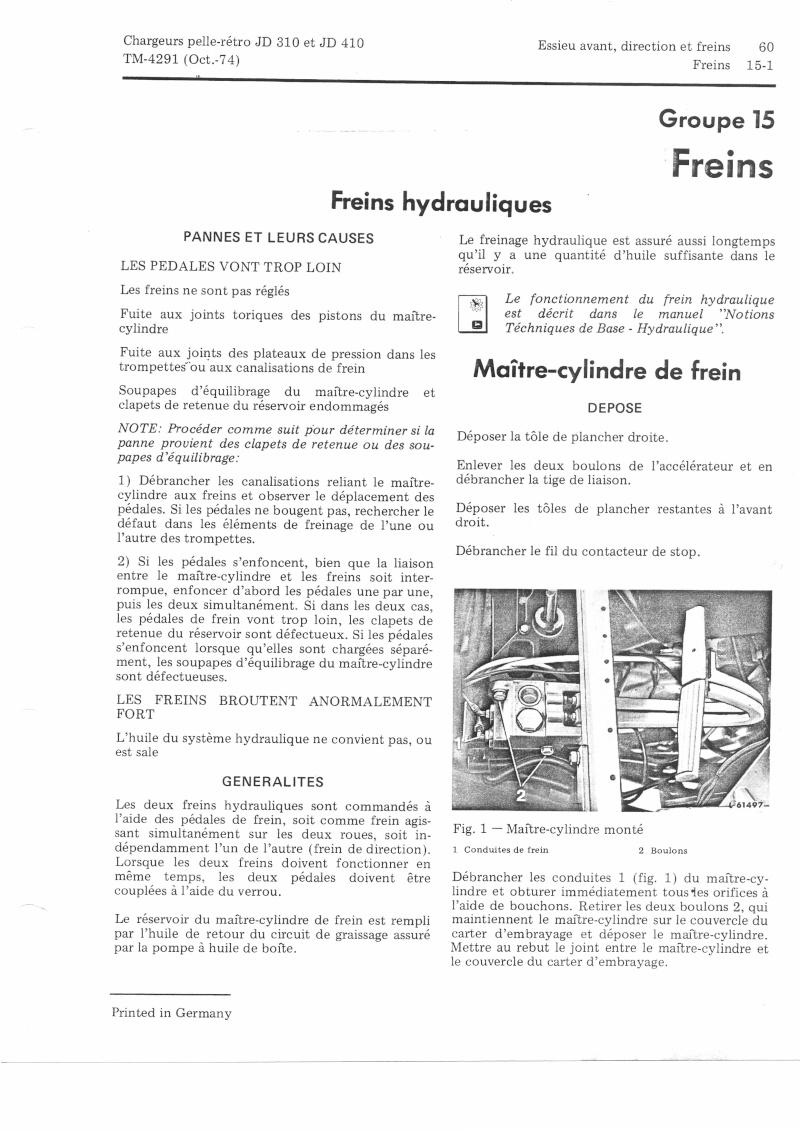 Problème de freins arriéres sur un traco-pelle JD400. documentation technique ? Freins11
