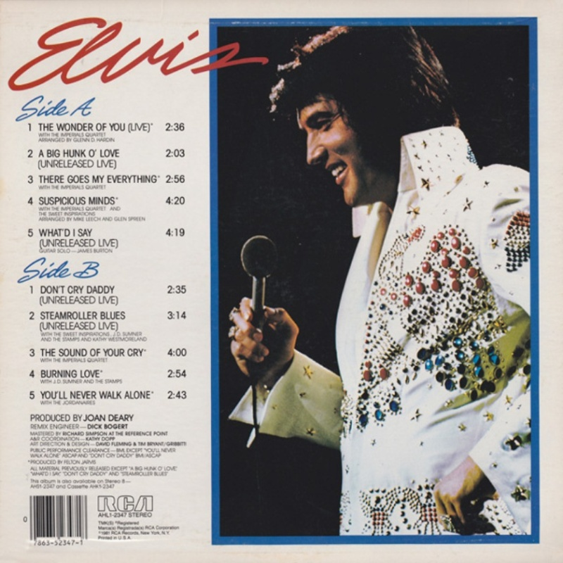 ELVIS GREATEST HITS VOLUME 1 1a73