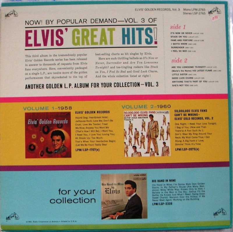 ELVIS' GOLD RECORDS VOL 3 1a_14