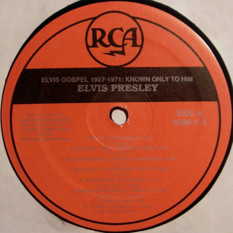 ELVIS GOSPEL 1957-1971: KNOWN ONLY TO HIM  1b69
