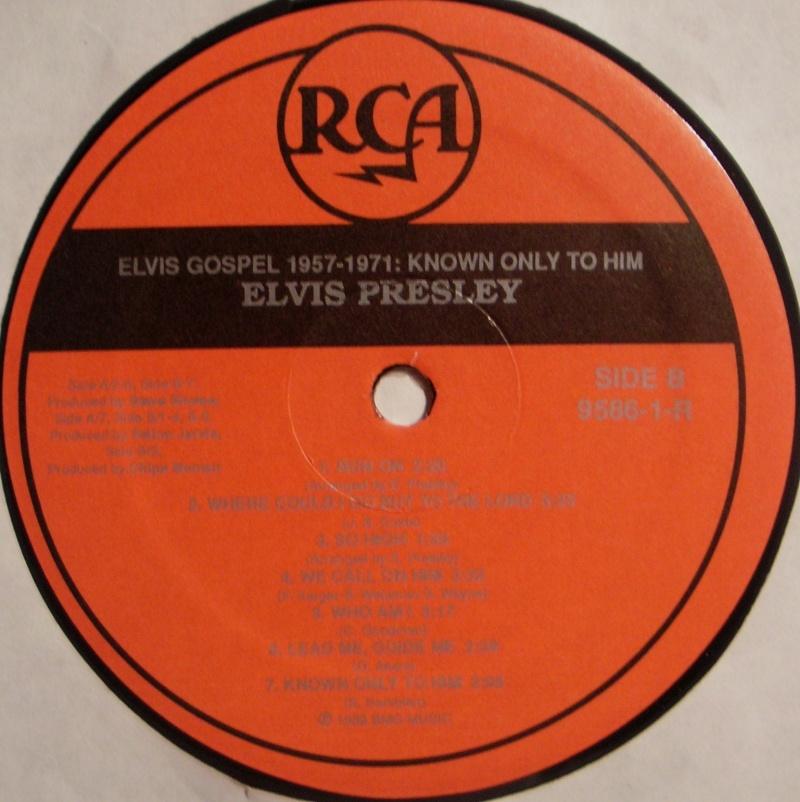 ELVIS GOSPEL 1957-1971: KNOWN ONLY TO HIM  1c76