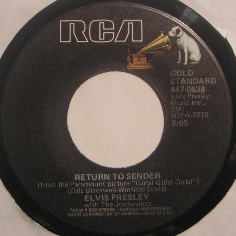 Return To Sender / Where Do You Come From 2a40