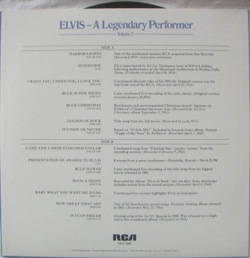 A LEGENDARY PERFORMER VOLUME 2 Pict0068