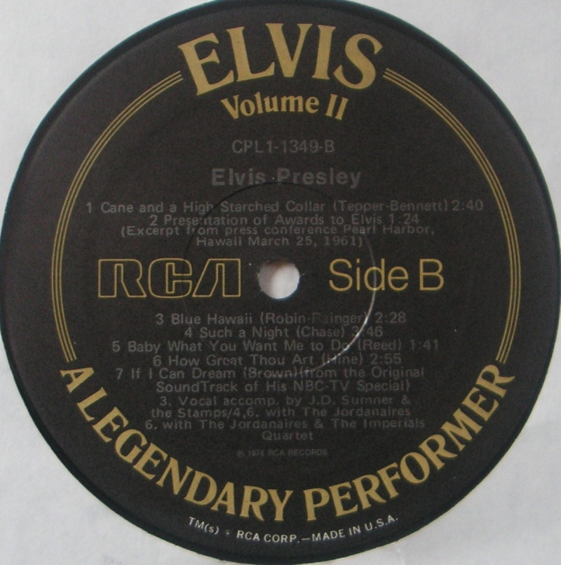 A LEGENDARY PERFORMER VOLUME 2 Pict0075