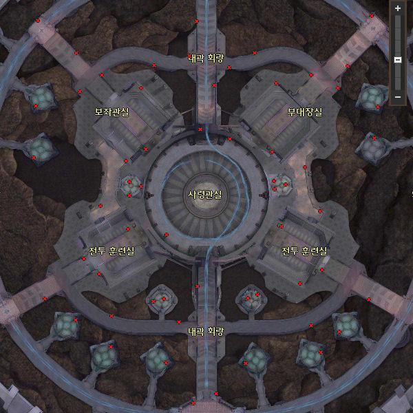 Cartes des différents coffres dans l'oeil Coffre11