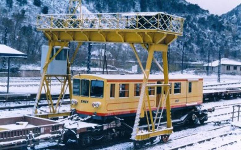 Photos du déchargement de la Z 115 en gare de Villefranche Vernet les Bains Z115_a10