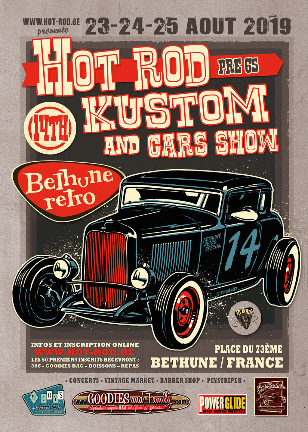 Béthune rétro 2019 : 14th Hot rod, Kustom and Cars Show Bethun10