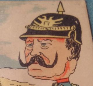 Caricature du kaiser carte postale éditions Ernest Le Deley Zzzsq11