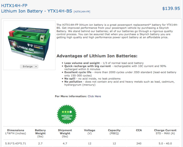 Batterie Lithium Captur55
