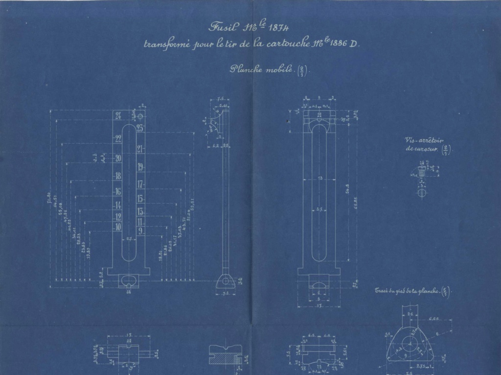 Hausse du Fusil Mle 1874 M.80 M.14 020610