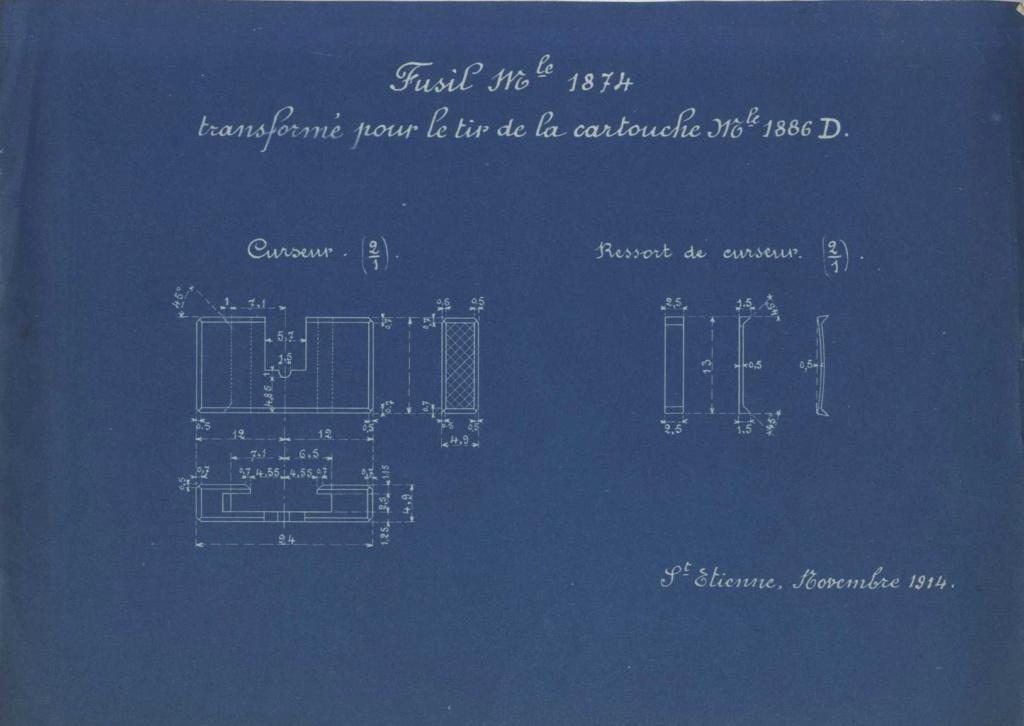 Hausse du Fusil Mle 1874 M.80 M.14 020910