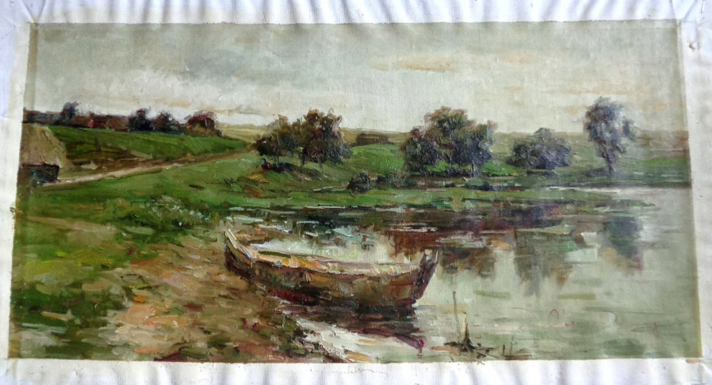 Unidentified Impressionist Painting Oilp110
