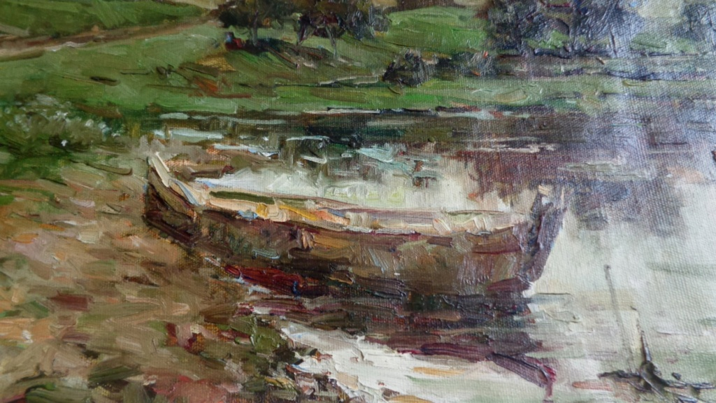 Unidentified Impressionist Painting Oilp210