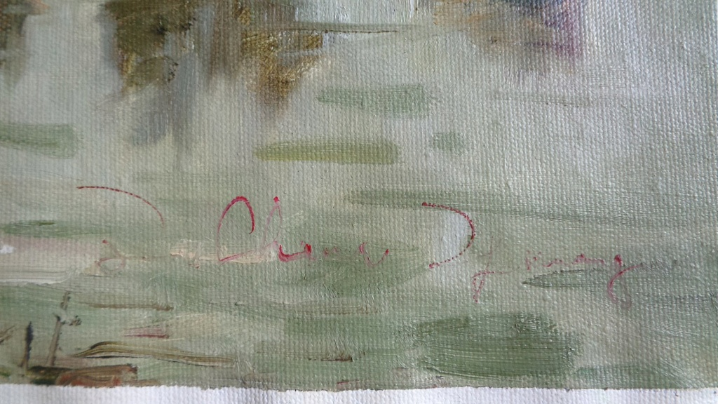 Unidentified Impressionist Painting Oilp310