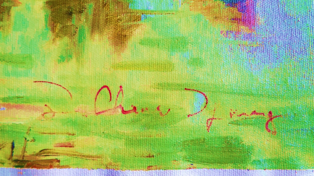 Unidentified Impressionist Painting Oilp410