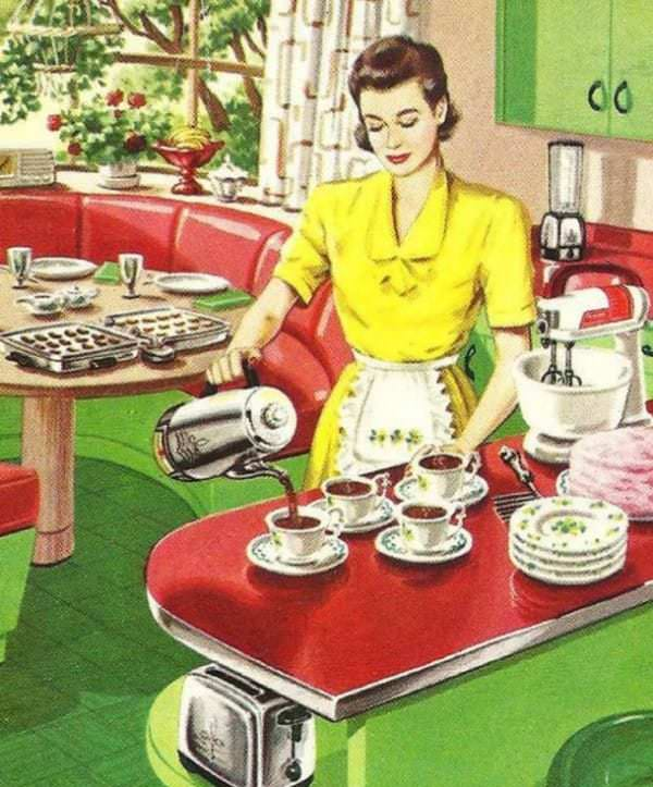 """Mai 1955, Housekeeping Monthly a publié un article intitulé """"Le Guide De La Bonne Épouse"""" 10910"""