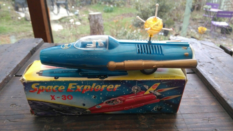 Vintage Friction Toy Space Explorer X-30  1950's 111