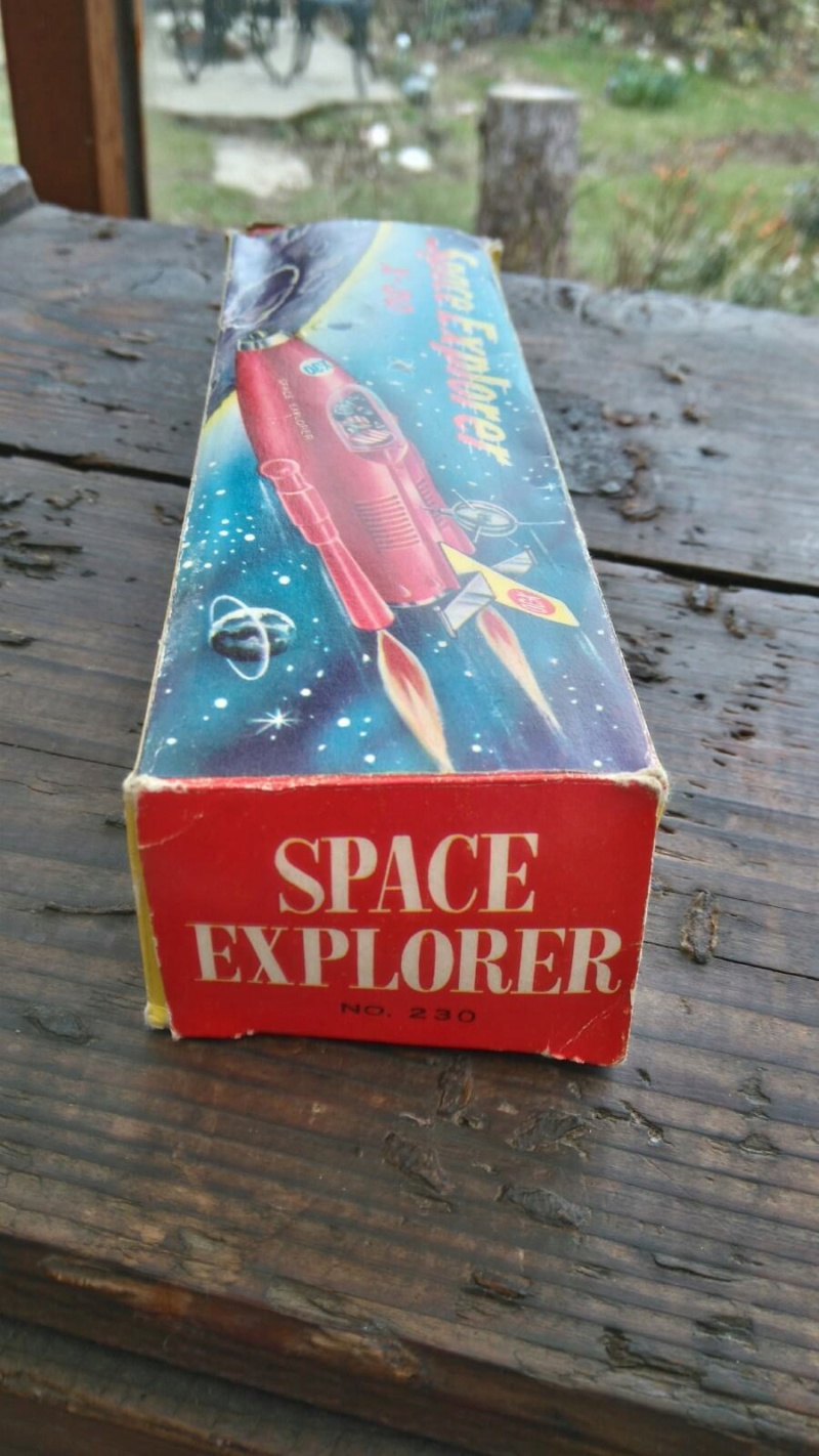 Vintage Friction Toy Space Explorer X-30  1950's 1111