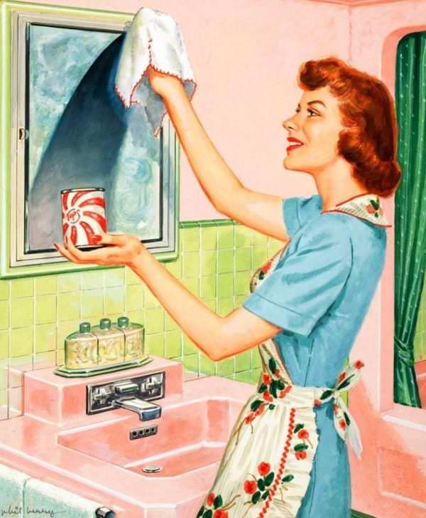 """Mai 1955, Housekeeping Monthly a publié un article intitulé """"Le Guide De La Bonne Épouse"""" 111410"""