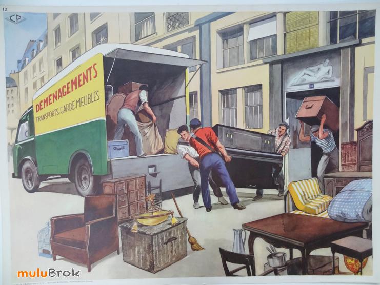 Affiches (tableaux)  pédagogiques Editions Rossignol 1946 - 1970s 11339110
