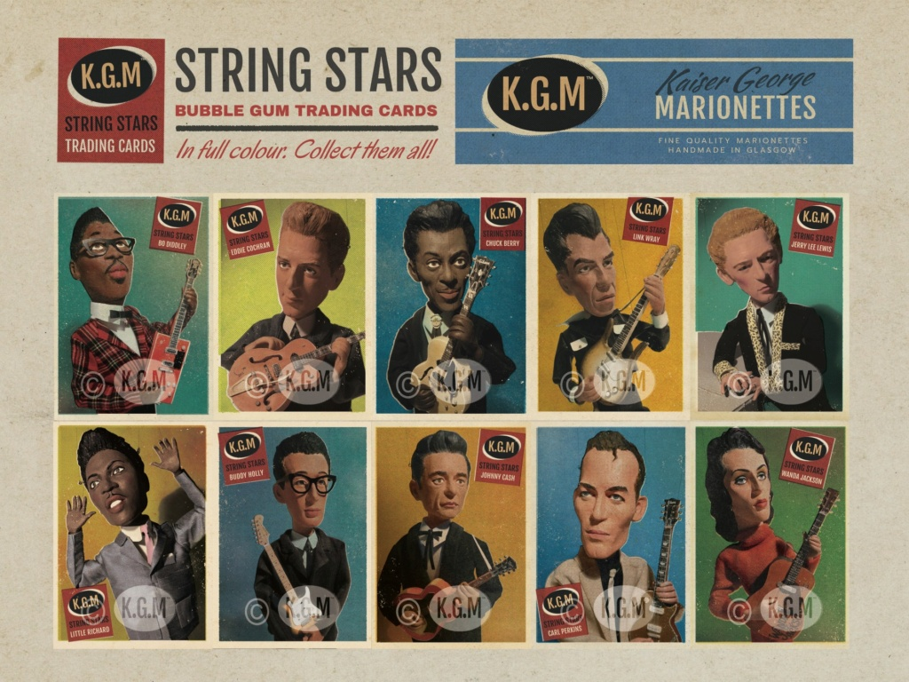 50s Rock 'n' roll legends in marionettes - KGM - Kaiser George Marionettes - 11654210