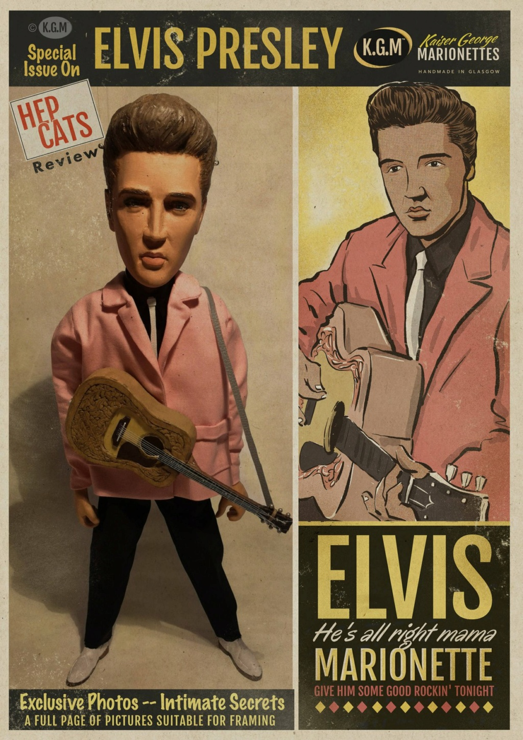 50s Rock 'n' roll legends in marionettes - KGM - Kaiser George Marionettes - 11865311