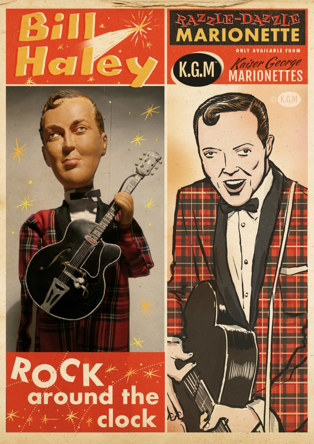 50s Rock 'n' roll legends in marionettes - KGM - Kaiser George Marionettes - 11880110