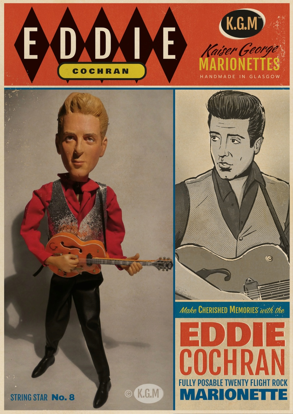 50s Rock 'n' roll legends in marionettes - KGM - Kaiser George Marionettes - 12058010
